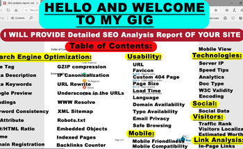 Small seo analysis report  competitor website audit