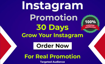 Small do professionally instagram promotion and grow profile
