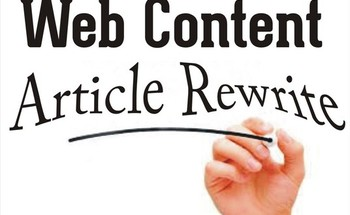 Small manual article rewrite