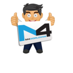 Medium character holding m4 sign
