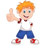 Medium cartoon boy giving you thumbs up vector 1409018